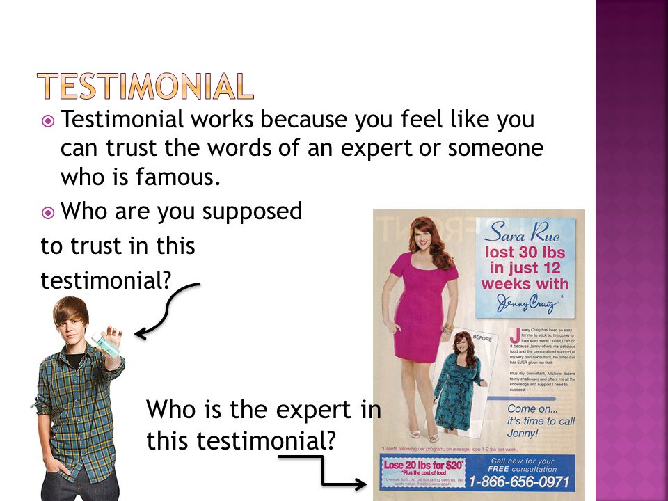 Testimonial Who is the expert in this testimonial