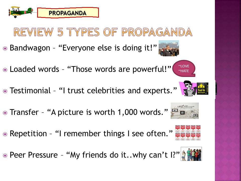 Review 5 types of propaganda
