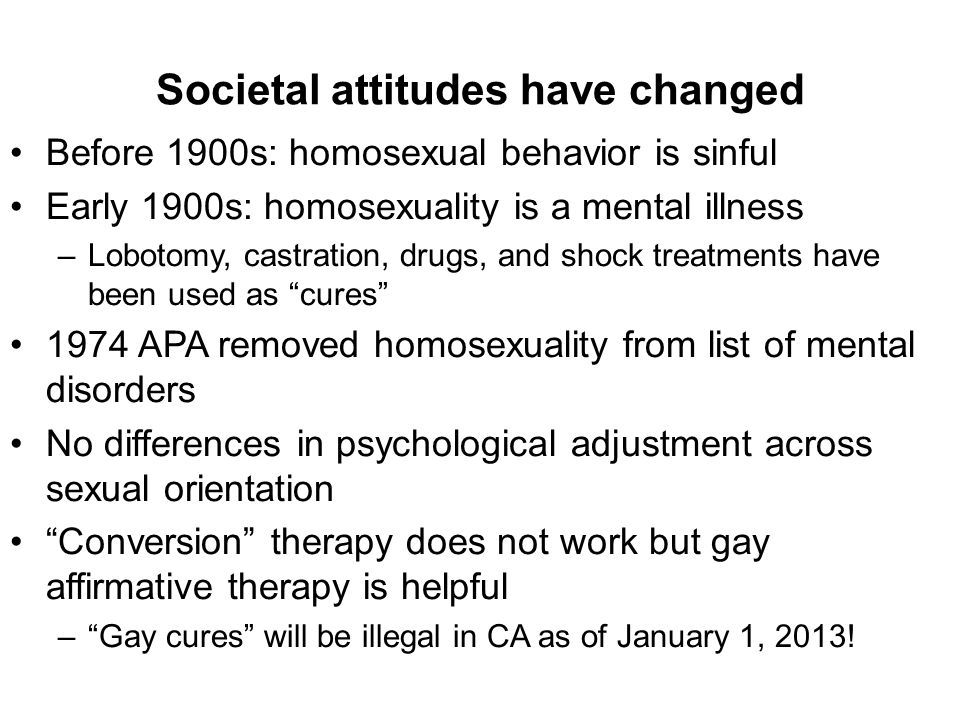 Homosexuality as a mental illness apa