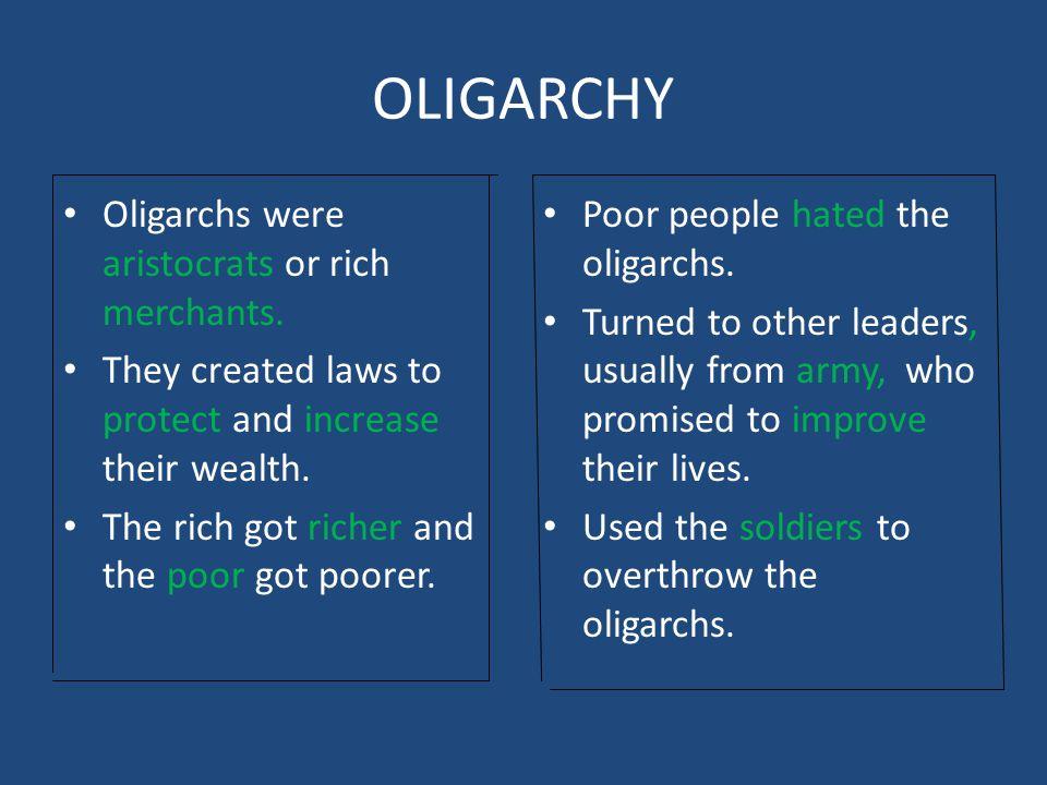 aristocracy vs oligarchy