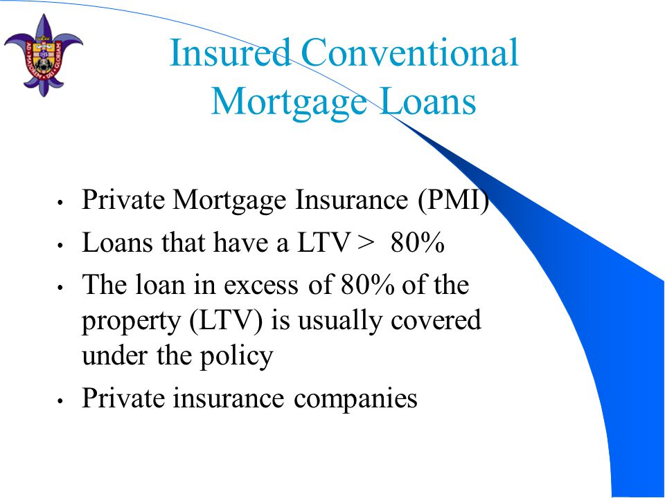 Insured Conventional Mortgage Loans