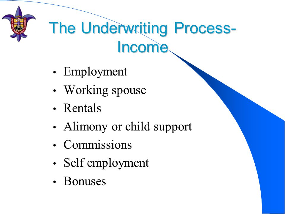 The Underwriting Process- Income