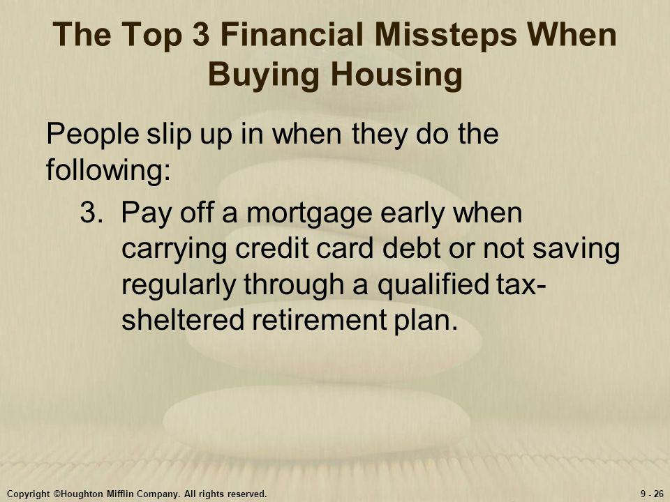 The Top 3 Financial Missteps When Buying Housing