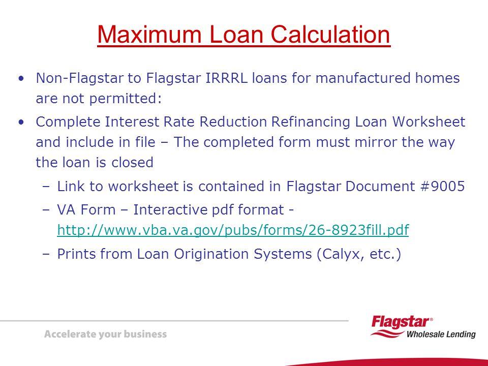 Presenting Va Interest Rate Reduction Refinancing Loans Irrrls