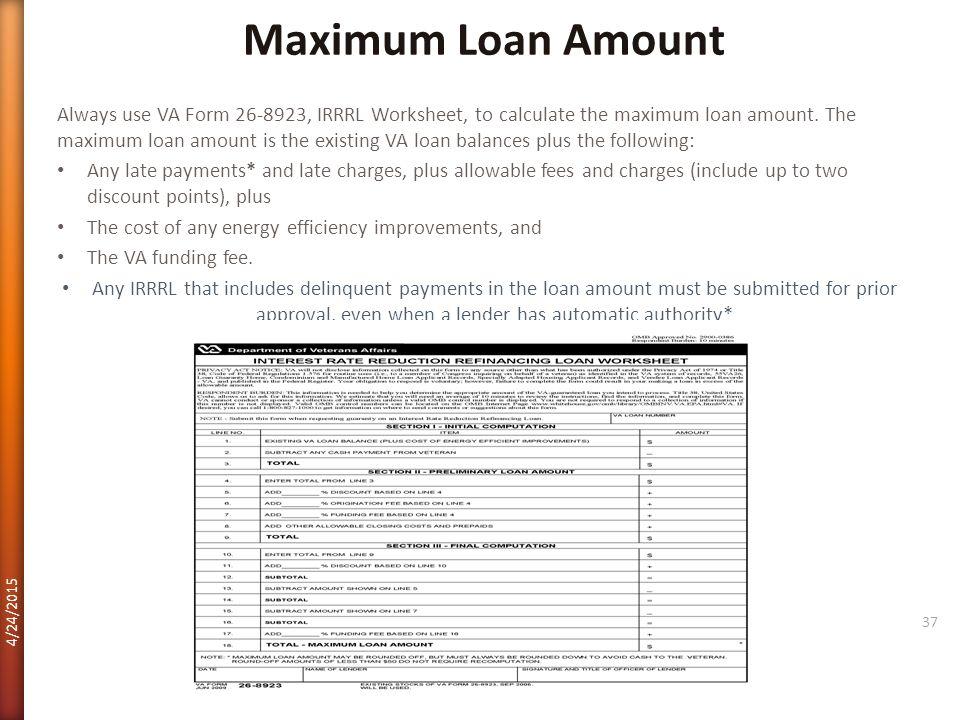 Va Loan Comparison Worksheet Worksheet List