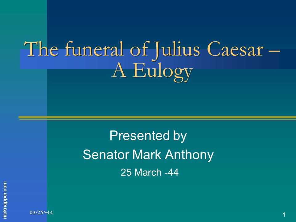 mark antonys eulogy of julius caesar