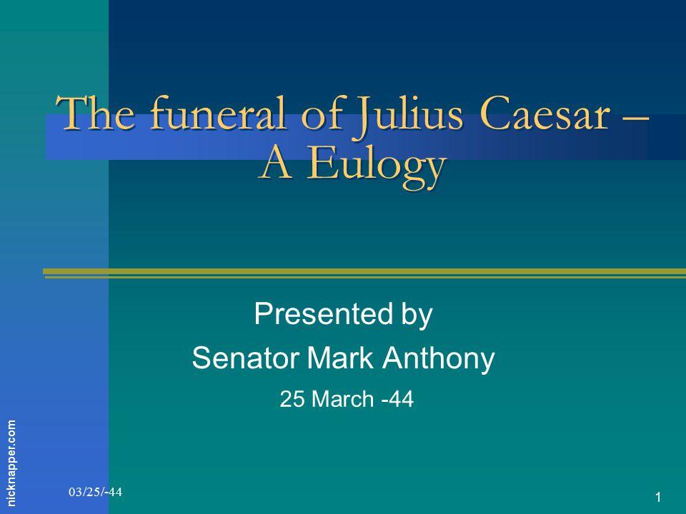 mark antony eulogy