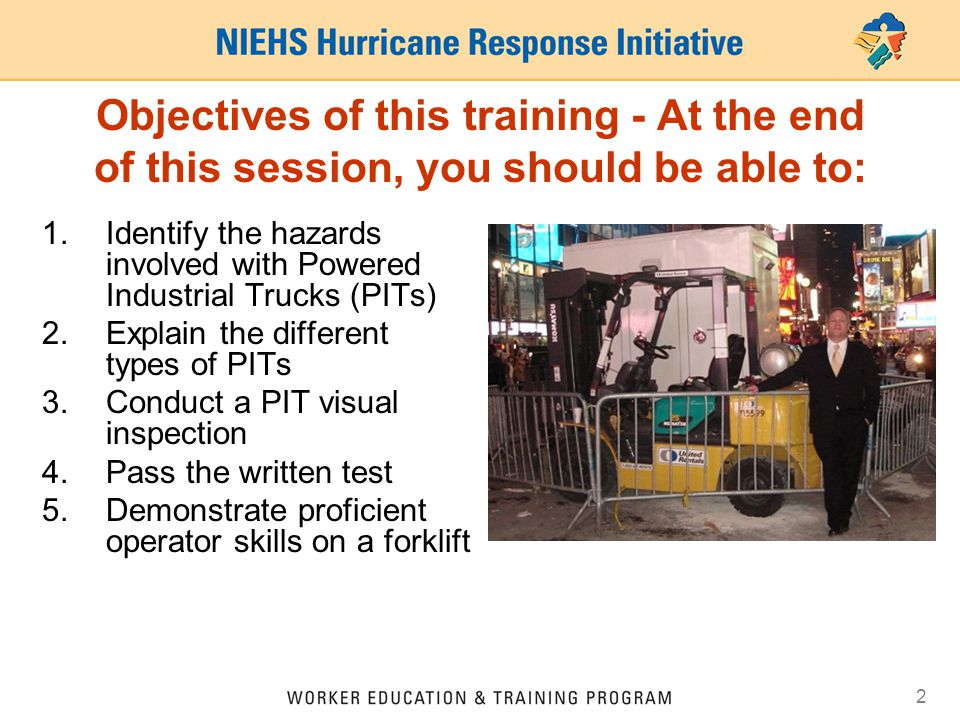 Forklift Operator Training Osha Powered Industrial Trucks Ppt