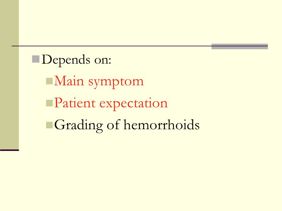 Grading of hemorrhoids