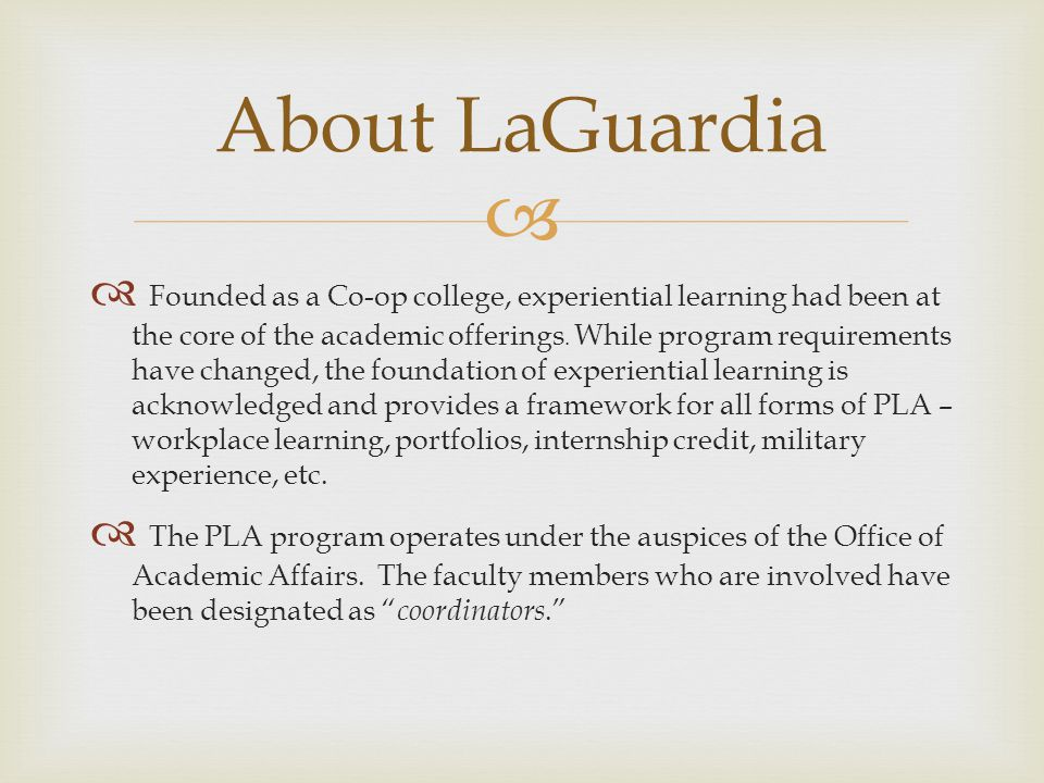 About LaGuardia