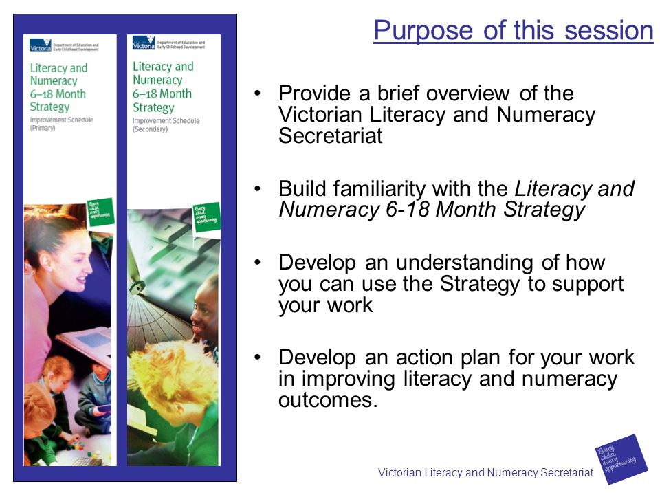 Victorian literacy and numeracy secretariat ppt download 2 purpose of this session malvernweather Image collections