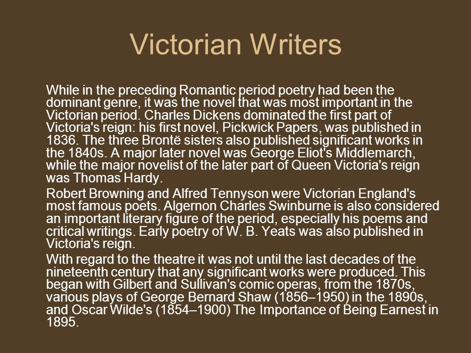Victorian Writers