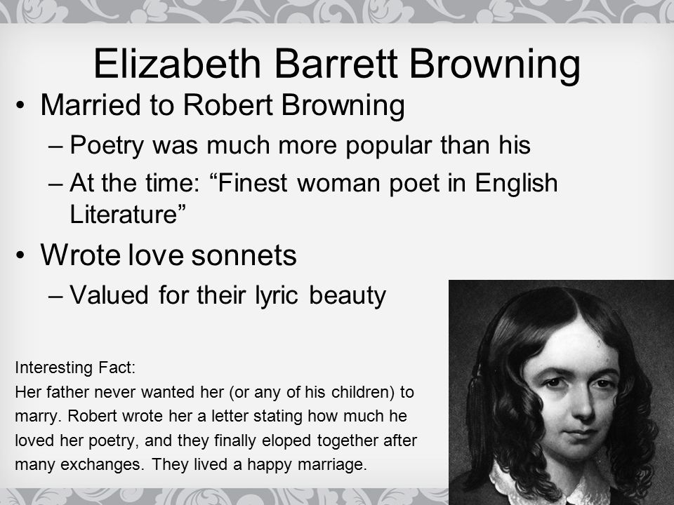 elizabeth barrett browning love sonnets