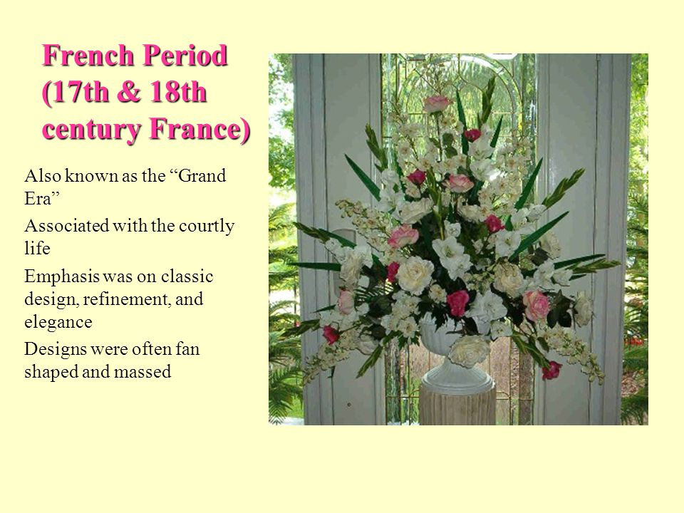 History Of Floral Design Ppt Video Online Download