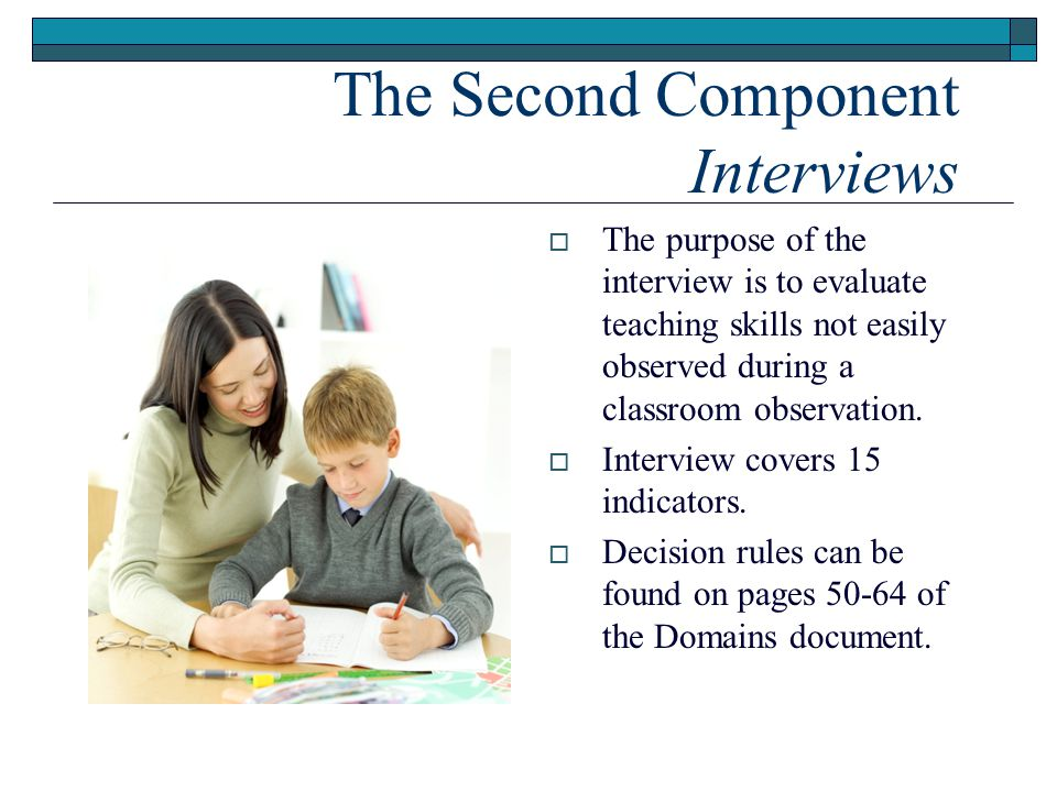 The Second Component Interviews