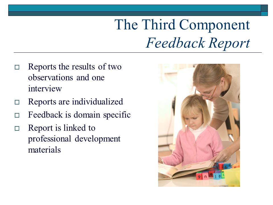 The Third Component Feedback Report