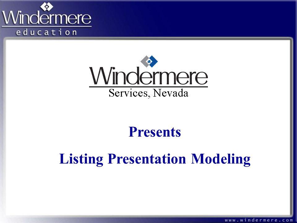 Listing Presentation Modeling - ppt download