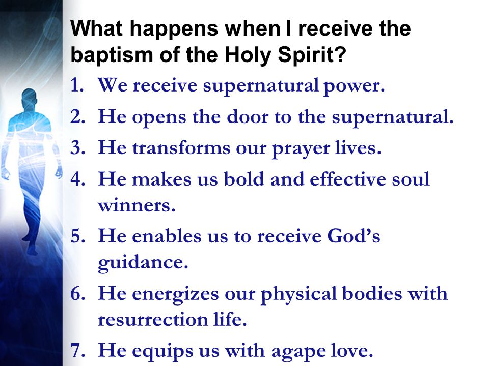 The Baptism of the Holy Ghost! - ppt video online download