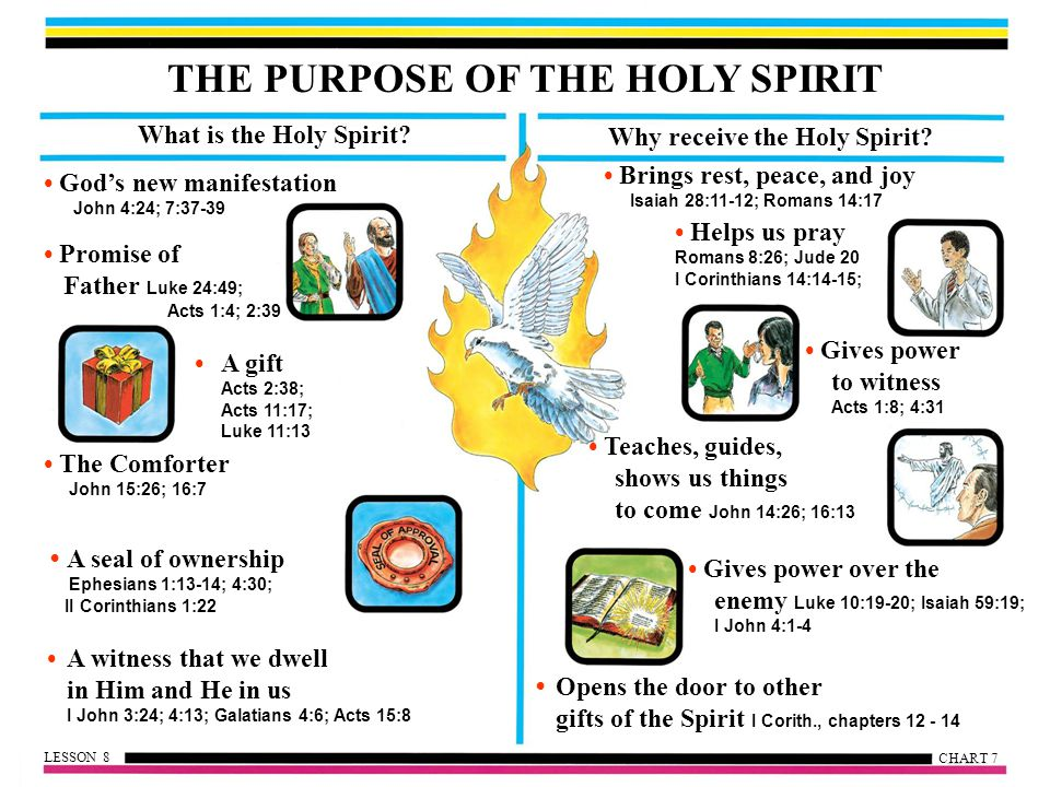 THE PURPOSE OF THE HOLY SPIRIT Why receive the Holy Spirit