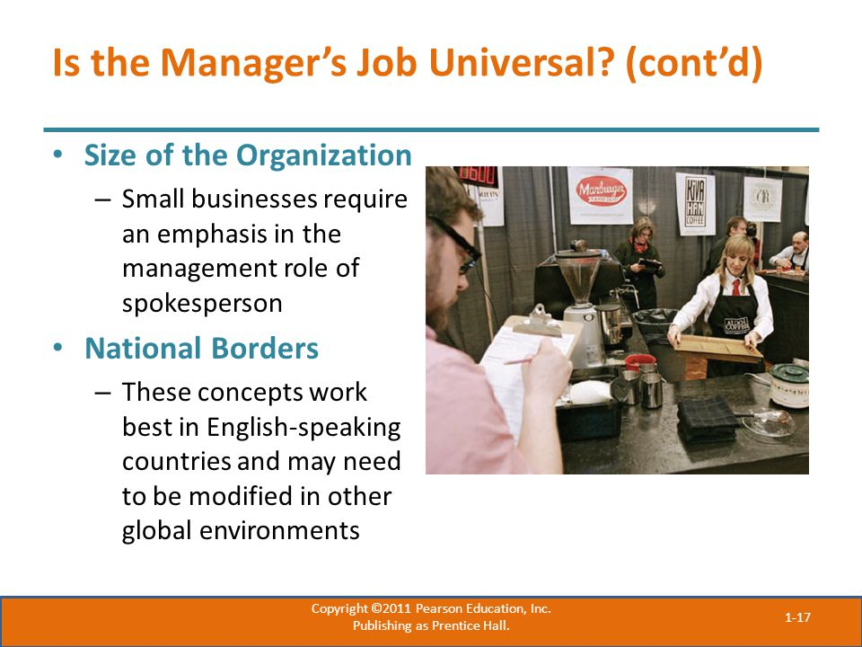 Is the Manager's Job Universal (cont'd)