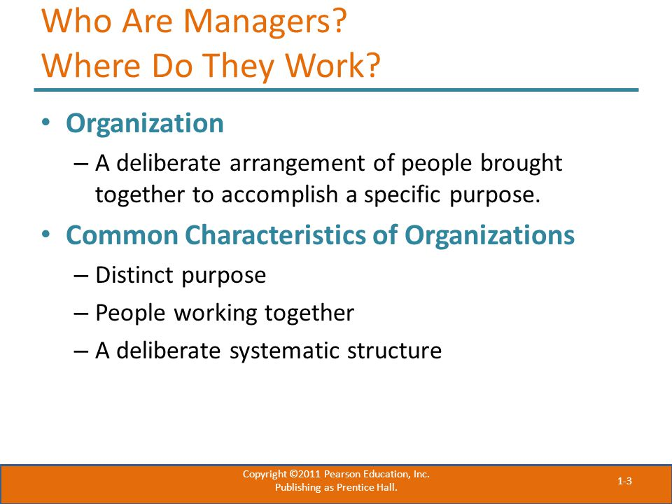 Who Are Managers Where Do They Work