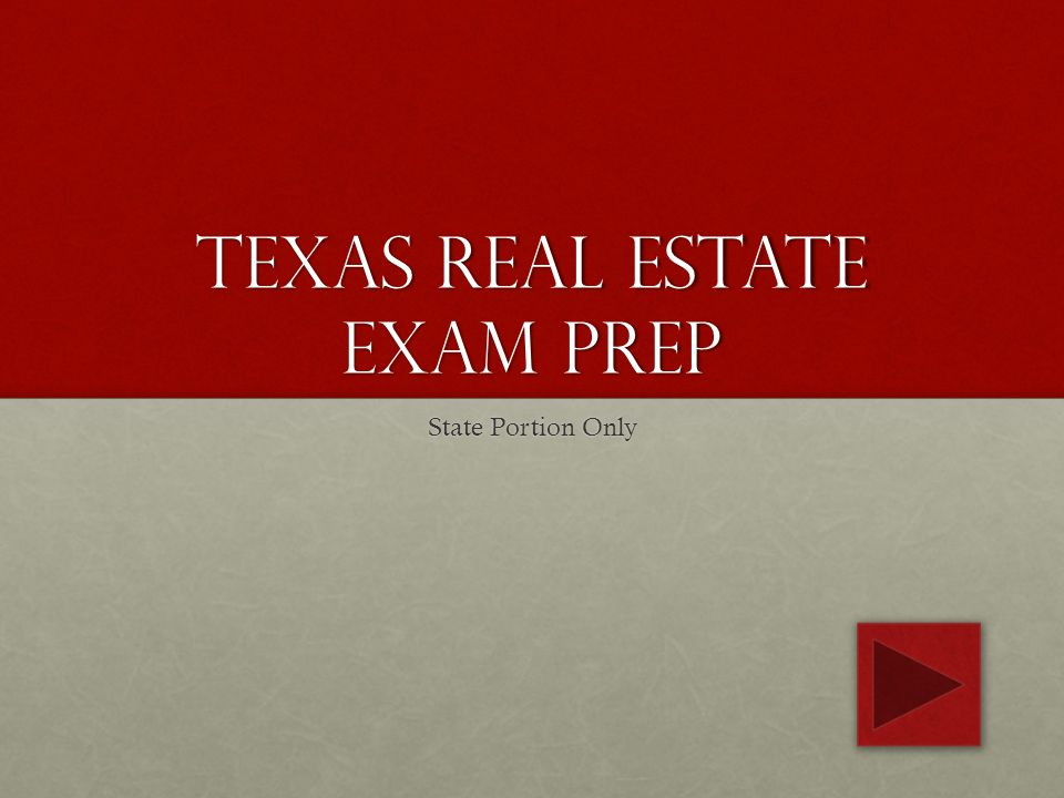 Texas Real Estate Exam Prep - ppt download