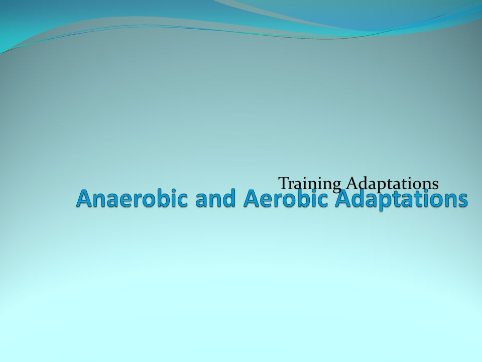 Anaerobic and Aerobic Adaptations