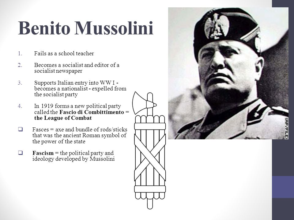 benito mussolini a destined failure essay An opportunity for benito mussolini to do exactly what he was waiting for arose in december 1934 during the wal wal dispute it is claimed that on 22nd november 1934, ethiopian troops arrived at the wal wal fort and demanded that the somali-italian troops there to withdraw from the fort as it was in ethiopia.