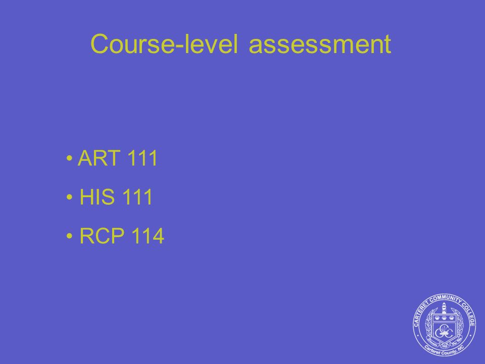 Course-level assessment