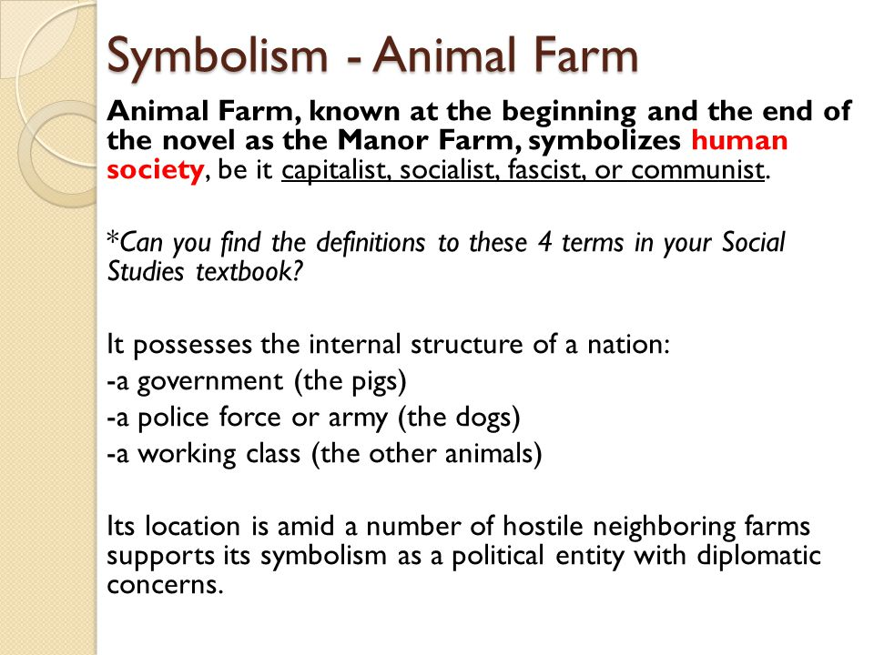 what does animal farm symbolize