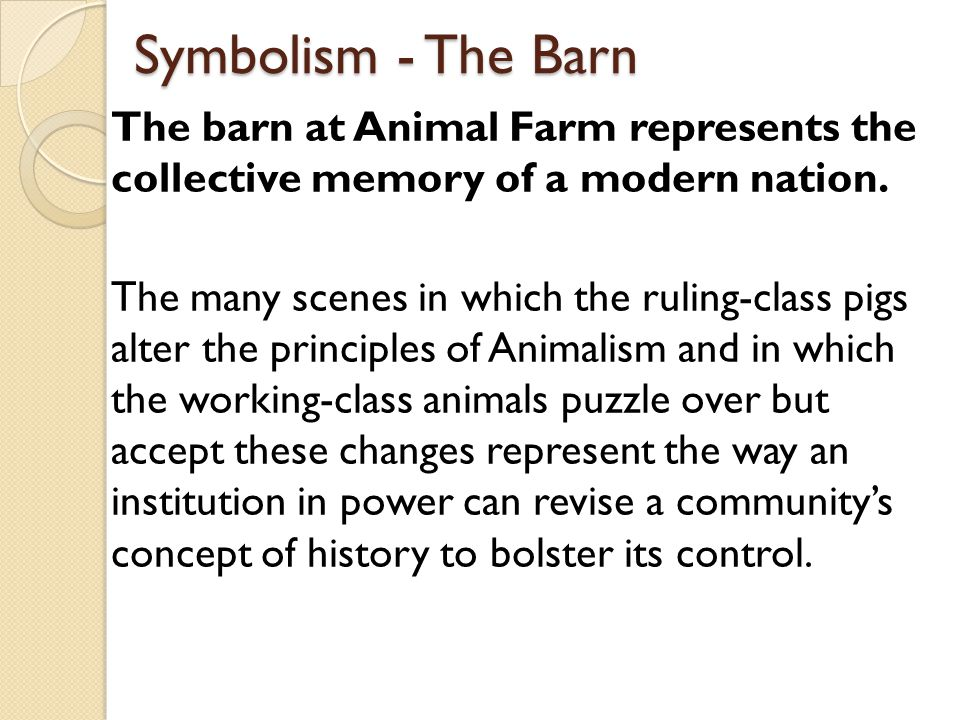 Animal Farm Building background  - ppt video online download