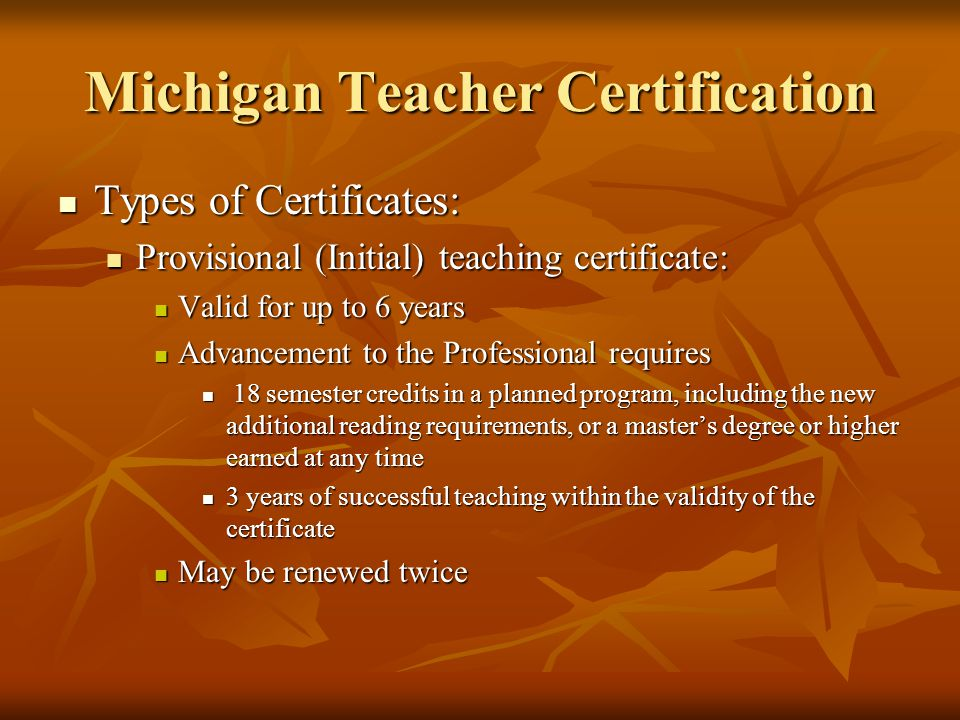 MICHIGAN DEPARTMENT OF EDUCATION - ppt download