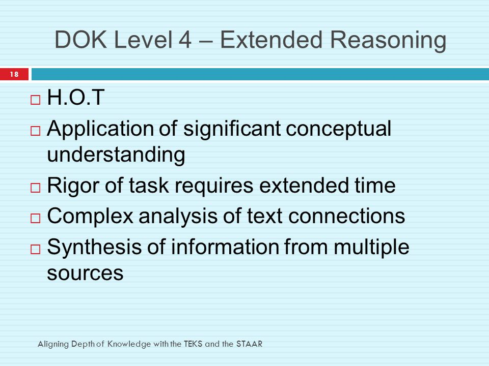 DOK Level 4 – Extended Reasoning