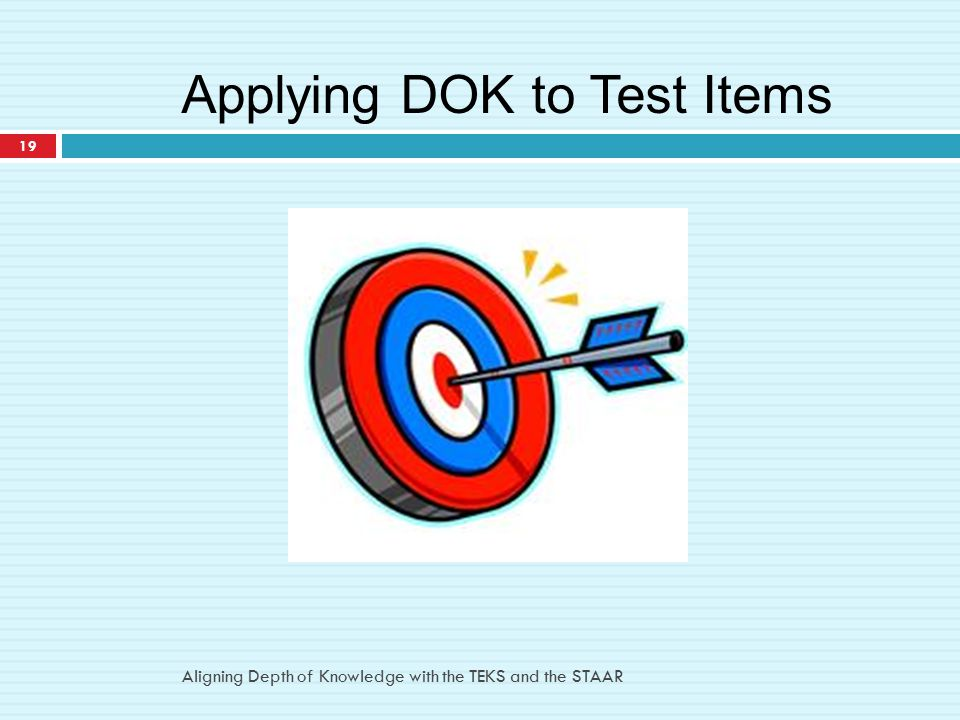 Applying DOK to Test Items