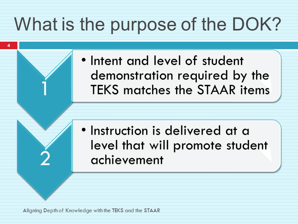 What is the purpose of the DOK