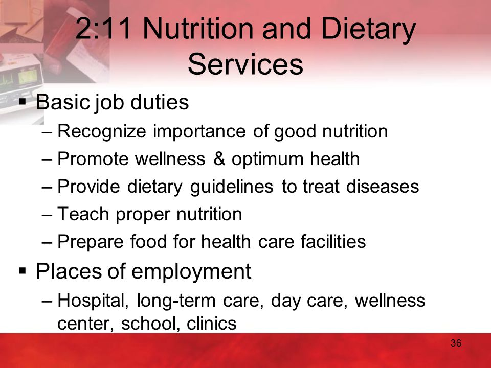 2:11 Nutrition and Dietary Services