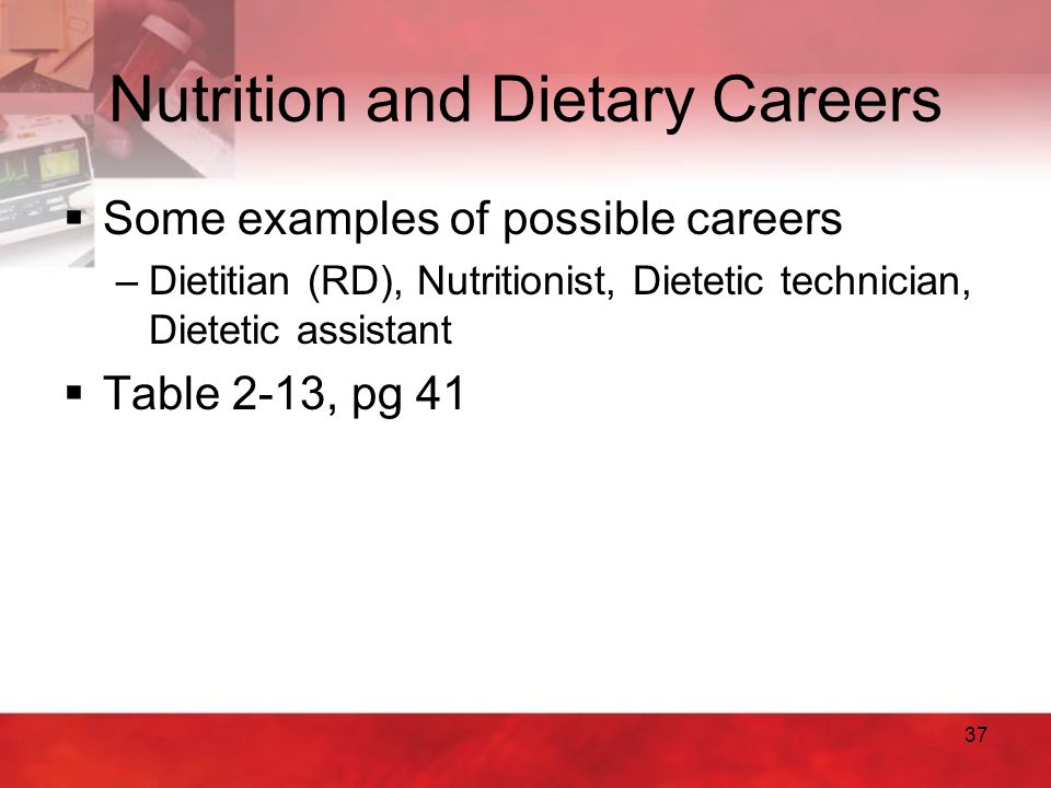 Nutrition and Dietary Careers
