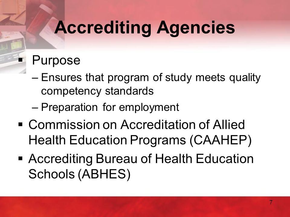 Accrediting Agencies Purpose
