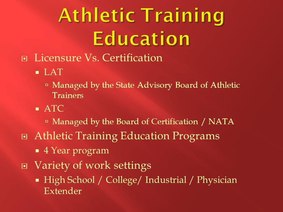 Athletic Training As A Profession Ppt Video Online Download