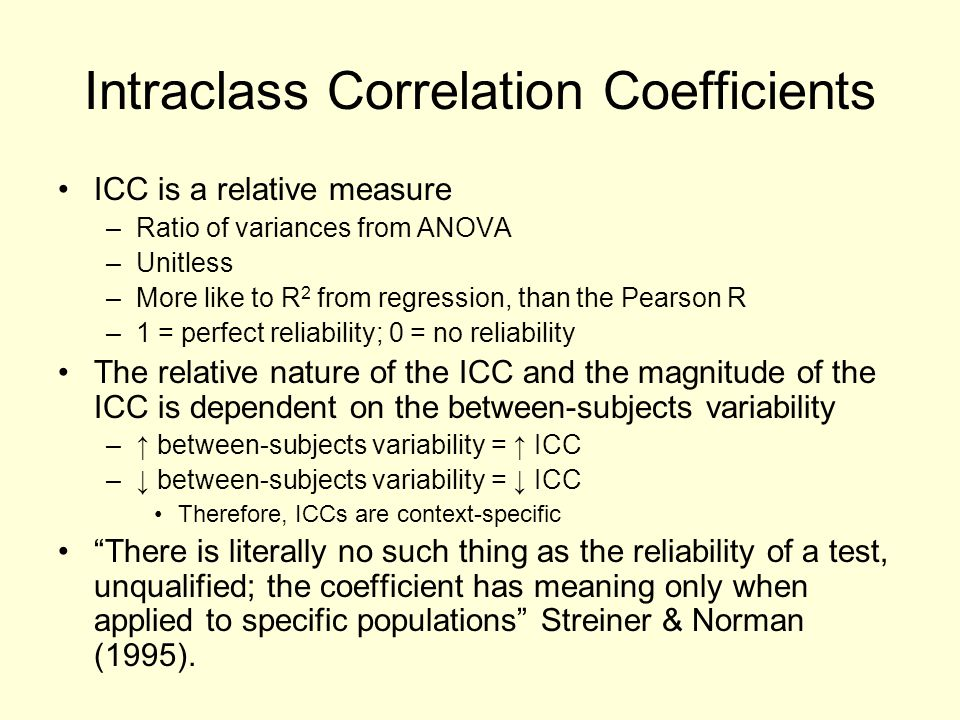 Intraclass Correlation Coefficients