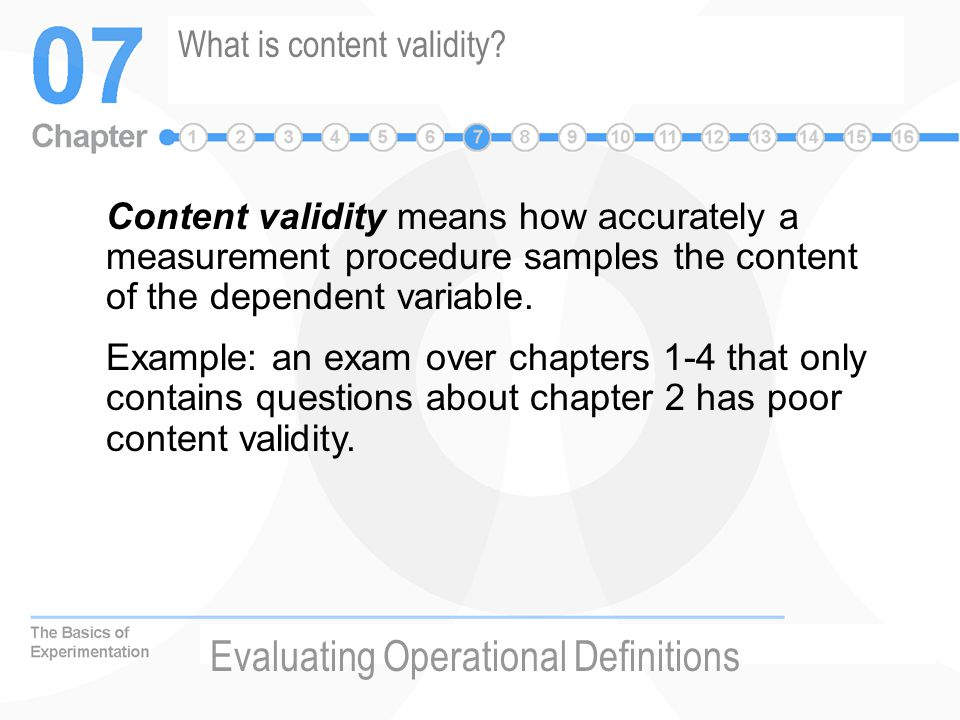 What is content validity