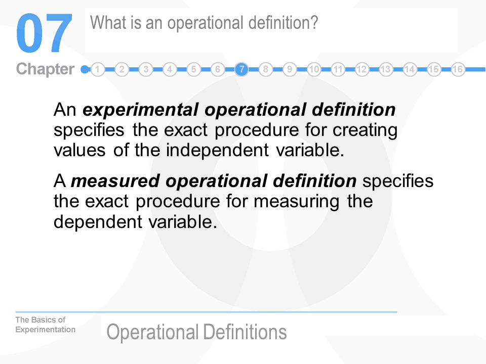 What is an operational definition