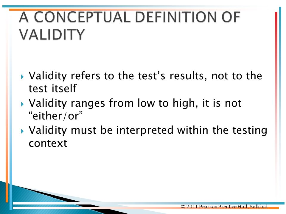A CONCEPTUAL DEFINITION OF VALIDITY