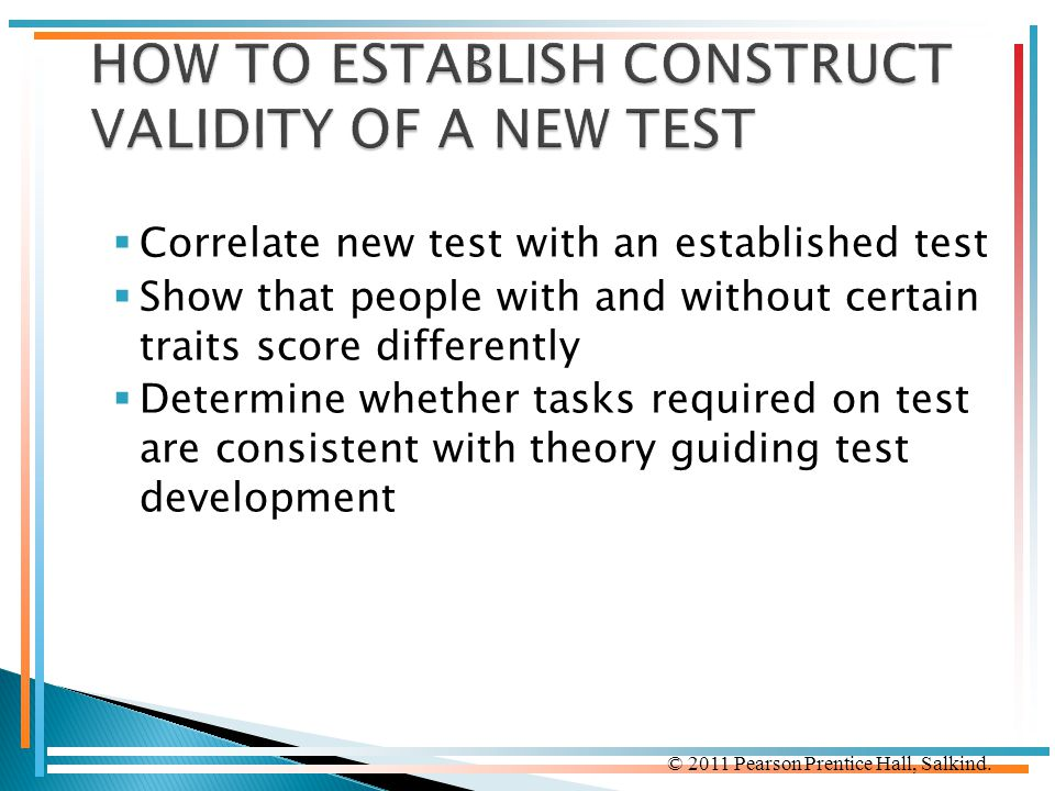 HOW TO ESTABLISH CONSTRUCT VALIDITY OF A NEW TEST