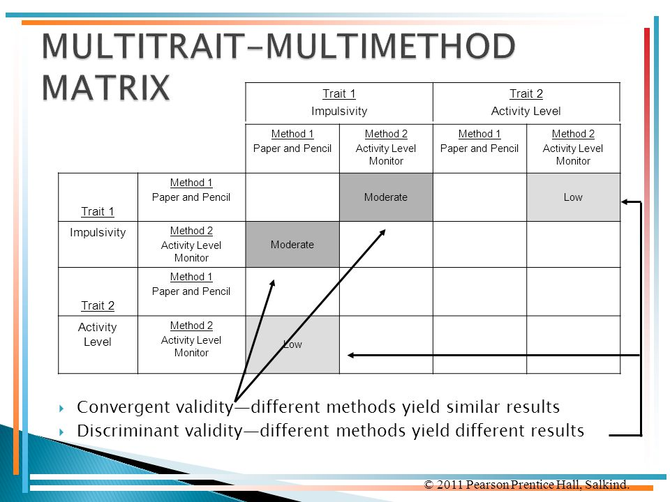MULTITRAIT-MULTIMETHOD MATRIX
