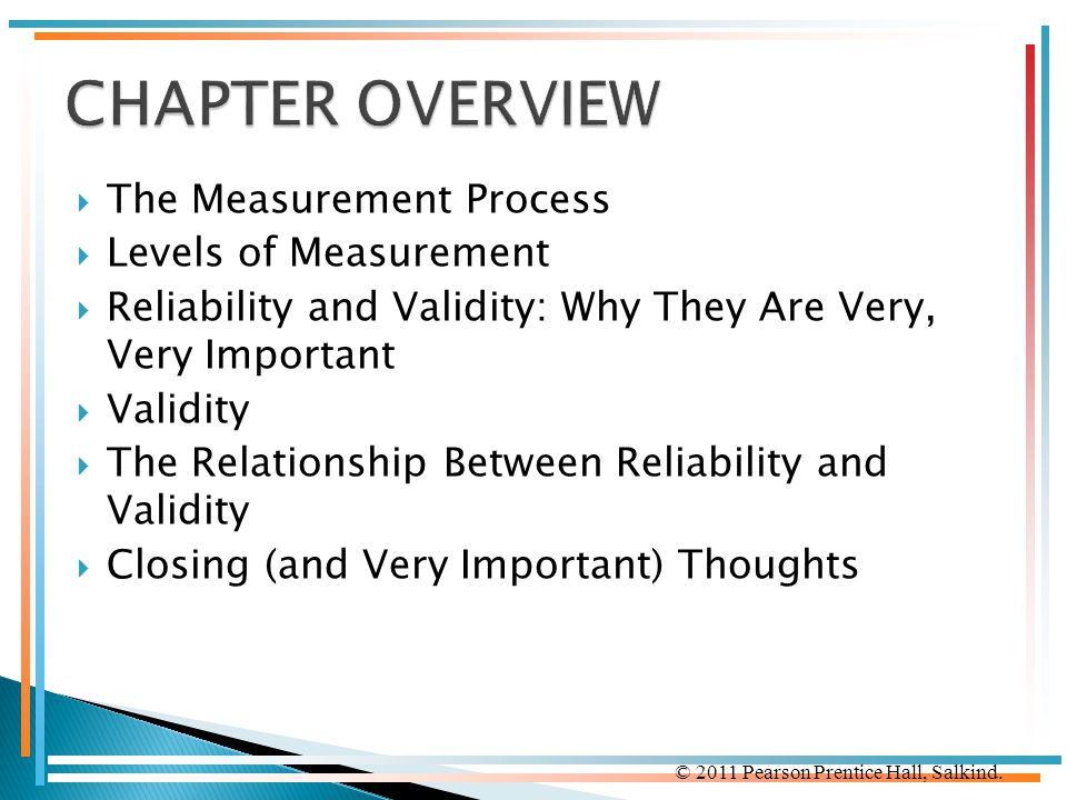 CHAPTER OVERVIEW The Measurement Process Levels of Measurement