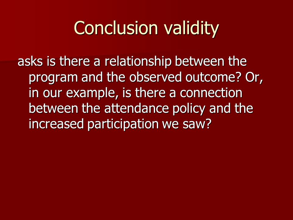 Conclusion validity