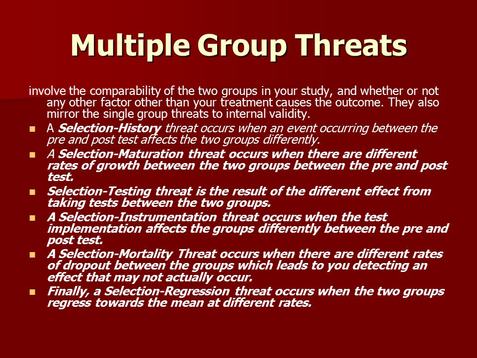 Multiple Group Threats