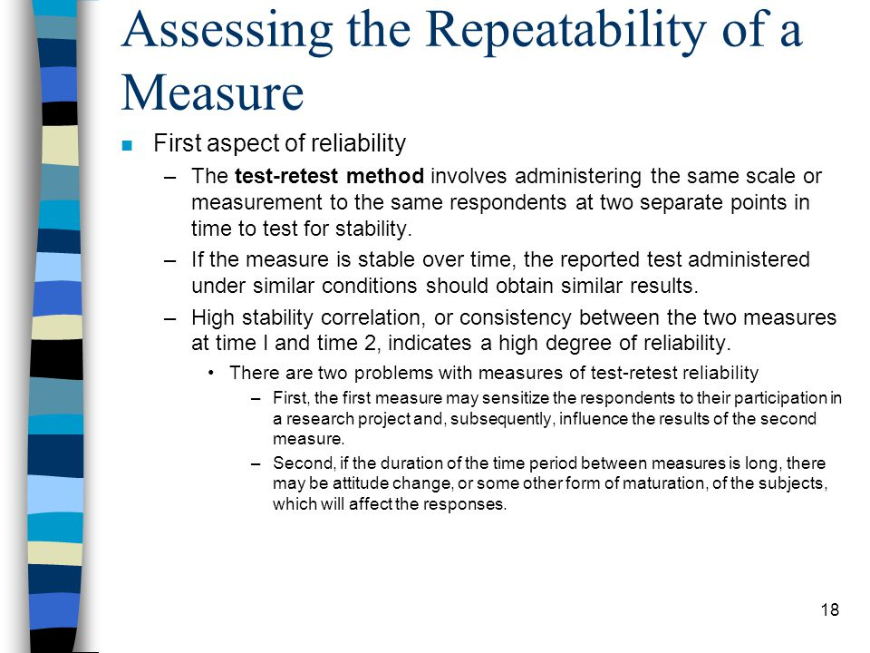 Assessing the Repeatability of a Measure