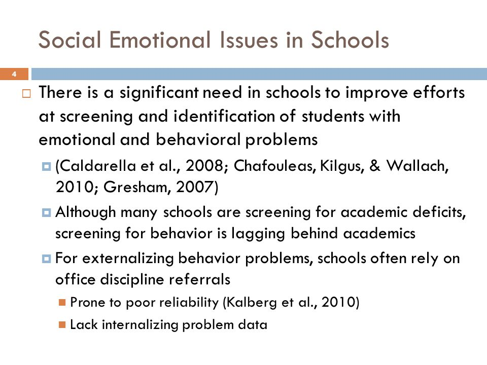 Issues social and emotional Social and